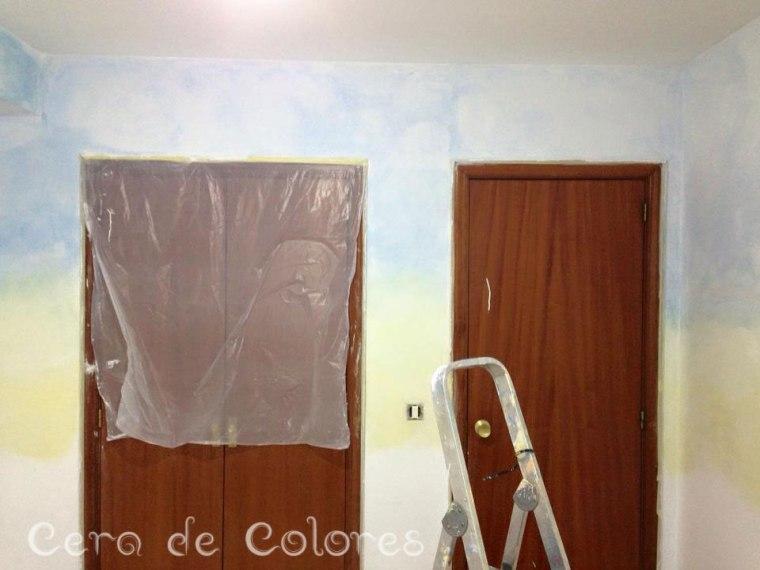 Proceso de pintura con la técnica Lazure.